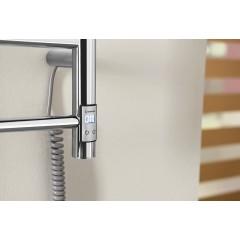 SAPHO - REDONDO elektrický sušák ručníků s časovačem, kulatý, 500x900 mm, 75 W, nerez ER220T