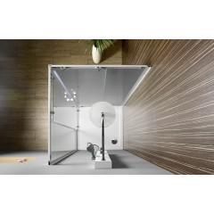 AQUALINE - ALAIN čtvercová sprchová zástěna 700x700 mm, sklo BRICK BTQ700