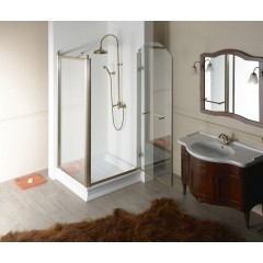 GELCO - ANTIQUE sprchové dveře otočné, 800mm, pravé, ČIRÉ sklo, bronz GQ1380RC