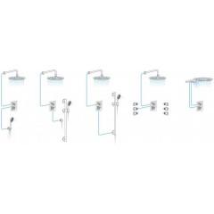 SAPHO - KIRKÉ CRYSTAL podomítková sprchová baterie, 2 výstupy, páčka krystal, zlato KI42KZ