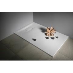 SAPHO - ACORA vanička z litého mramoru, obdélník 120x80x3,5cm, bílá, dekor kámen AC004
