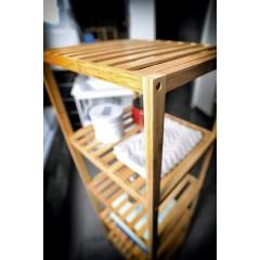 AQUALINE - BAMBUS policový regál, 5 polic, bambus BI005