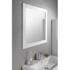 AQUALINE - FAVOLO zrcadlo v rámu 80x80cm, bílá mat FV080