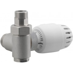 AQUALINE - ECO COMBI připojovací sada ventilů, termostatická LEVÁ, nikl/bílá CP993