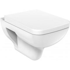 AQUALINE - BENE WC sedátko Soft Close, bílá/chrom KC0503
