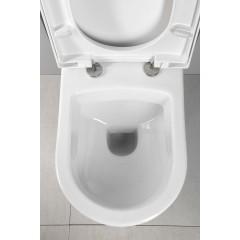 AQUALINE - NERA závěsná WC mísa, 35,5x50 cm, bílá NS952