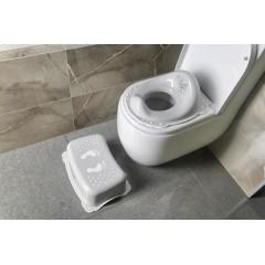 AQUALINE - Dětské protiskluzové stupátko do koupelny Medvídek, šedá 7768