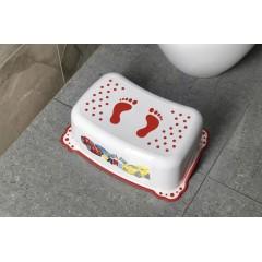 AQUALINE - Dětské protiskluzové stupátko do koupelny Auta, bílá 7773
