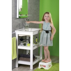 AQUALINE - Dětské protiskluzové stupátko do koupelny Dinosauři, bílá 7778