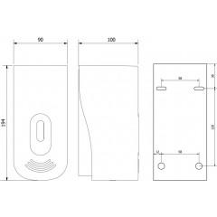 AQUALINE - Dávkovač tekutého mýdla nástěnný, ABS šedá, 400 ml 1319-77