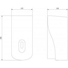 AQUALINE - Dávkovač tekutého mýdla nástěnný, ABS šedá, 1000 ml 1319-78