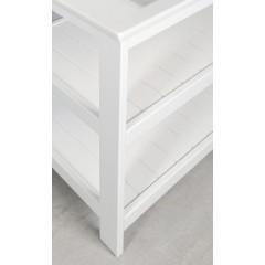 AQUALINE - ETIDE policová umyvadlová skříňka 51,5x85x44 cm, bílá mat ET505