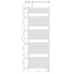 AQUALINE - DIRECT-E elektrické otopné těleso rovné 600x1680 mm, 800W, bílá ILE66T