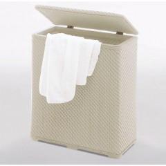 AQUALINE - AMBROGIO koš na prádlo 50x55x28 cm, béžová 203803