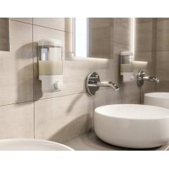 AQUALINE - Dávkovač tekutého mýdla na zavěšení 600ml, bílý 2280