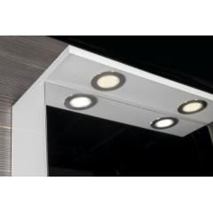 AQUALINE - KAWA galerka s LED osvětlením 50x70x25,5cm, bílá WGL50