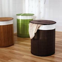 AQUALINE - BEACH koš na prádlo, bambus, tmavě hnědá 21005038