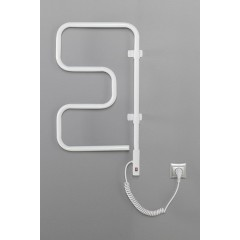 AQUALINE - ELVOR elektrický sušák na ručníky, 400x750x95mm, 80W, bílá EB320