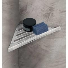 AQUALINE - Rohová police do sprchy, 230x30x230 mm, ABS/čirá FL80