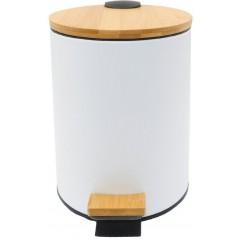 AQUALINE - BAMBUS odpadkový koš kulatý 5l, bílá BI007