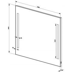 AQUALINE - LED podsvícené zrcadlo 100x80cm, kolíbkový vypínač ATH7