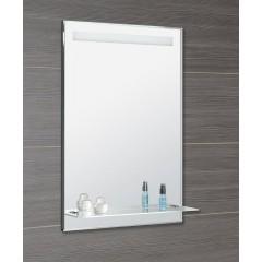 AQUALINE - LED podsvícené zrcadlo 60x80cm, skleněná polička, kolíbkový vypínač ATH53