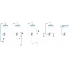 AQUALINE - LOTTA podomítková sprchová baterie, 2 výstupy, černá LT742B