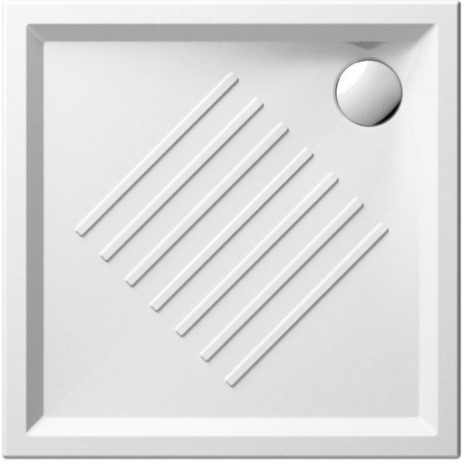 GSI - Keramická sprchová vanička, čtverec 80x80x6cm 338611