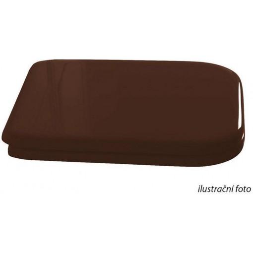 KERASAN - WALDORF WC sedátko Soft Close, dřevo masiv, ořech/chrom 418840