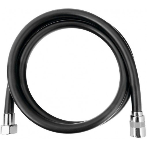SAPHO - SOFTFLEX hladká sprchová plastová hadice, 150cm, černá mat/chrom 1208-16