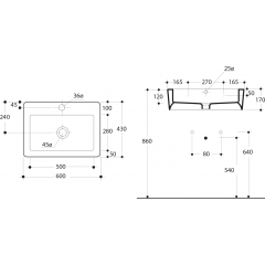 KERASAN - EGO keramické umyvadlo 60x43cm 324201