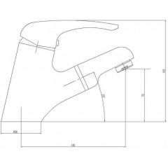 AQUALINE - KASIOPEA stojánková umyvadlová baterie s výsuvnou sprškou, chrom 1107-05