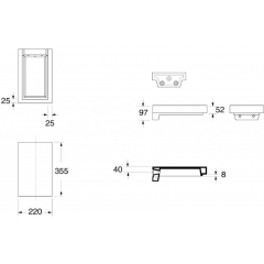 KERASAN - INKA odkladná keramická deska 22x35,5cm, voda 341634