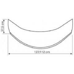 AQUALINE - Panel čelní k hluboké vaničce 80x80cm, výška 37,5cm, bílá B83