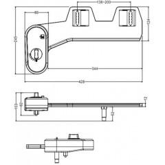 AQUALINE - EASY CLEANING přídavný bidet na studenou vodu, polypropylen MT002