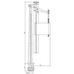 """AQUALINE - Napouštěcí ventil, spodní 3/8"""" ONSP100"""
