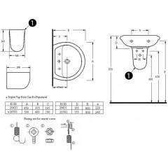 AQUALINE - Keramické umyvadlo 50x40cm 20501
