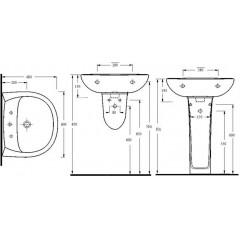 AQUALINE - Keramické umyvadlo 60x48cm 15601