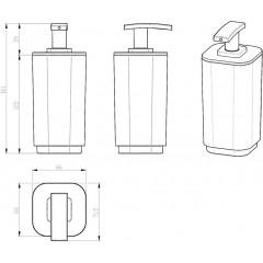 AQUALINE - SEVENTY dávkovač mýdla na postavení, lila 638279