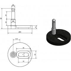 AQUALINE - Náhradní uchycení s rozpínací hmoždinkou pro BS122, 2ks 122-HH19