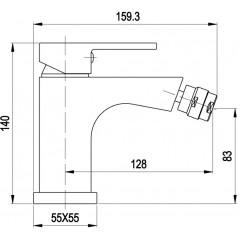 AQUALINE - CANTINO stojánková bidetová baterie bez výpusti, chrom 1126-03