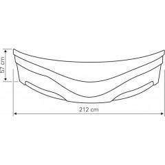 AQUALINE - DUNAJ II 150 boční panel, výška 57 cm, včetně montážní sady G1355