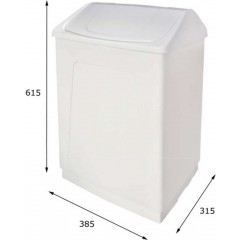 AQUALINE - Odpadkový koš výklopný, 55 l, bílý plast ABS 14027