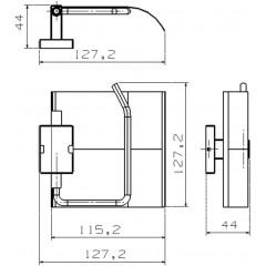 AQUALINE - APOLLO držák toaletního papíru s krytem, chrom 1416-20