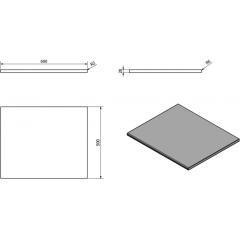 SAPHO - OLIVER deska 60x2x50cm, technický mramor, Grigio carnico OV060-1218