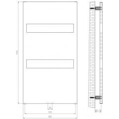 AQUALINE - ORLANDO otopné těleso deskové 605x1143 mm, 438 W, bílá IL116