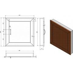 AQUALINE - Revizní dvířka 60x60cm, dub Platin DS125