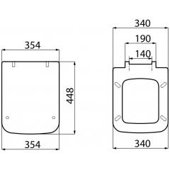 AQUALINE - BENE WC sedátko, bílá/chrom KC0502
