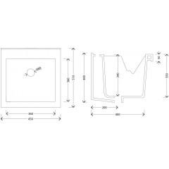AQUALINE - Keramická výlevka, 45x50 cm, s přepadem WH118