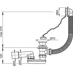 Alcaplast Sifon vanový bílý A502